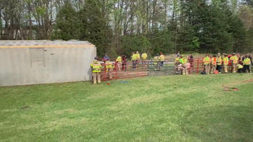 Tractor-trailer carrying 86 pigs overturns on I-40 in Winston-Salem