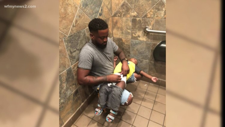This Dad's Post About Changing Diapers Lead To A National Discussion