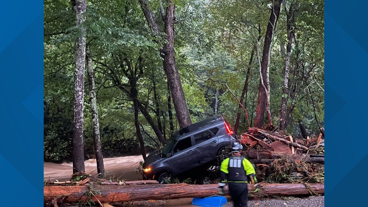 Winston-Salem swiftwater team rescues 40 people, 20 pets from floodwaters in western NC