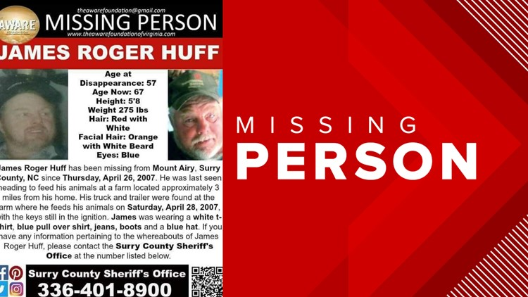 James Huff Missing Person Poster