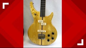 Unique Vintage Bass Guitar Donated to Triad Goodwill