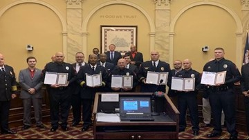 6 Danville Police Officers Honored For Saving Lives During Tropical Storm Michael