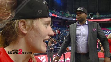 'All my friends and family that were here, I'm thankful for them': N. Guilford alum & NC State's Elissa Cunane on winning ACC Tournament Title