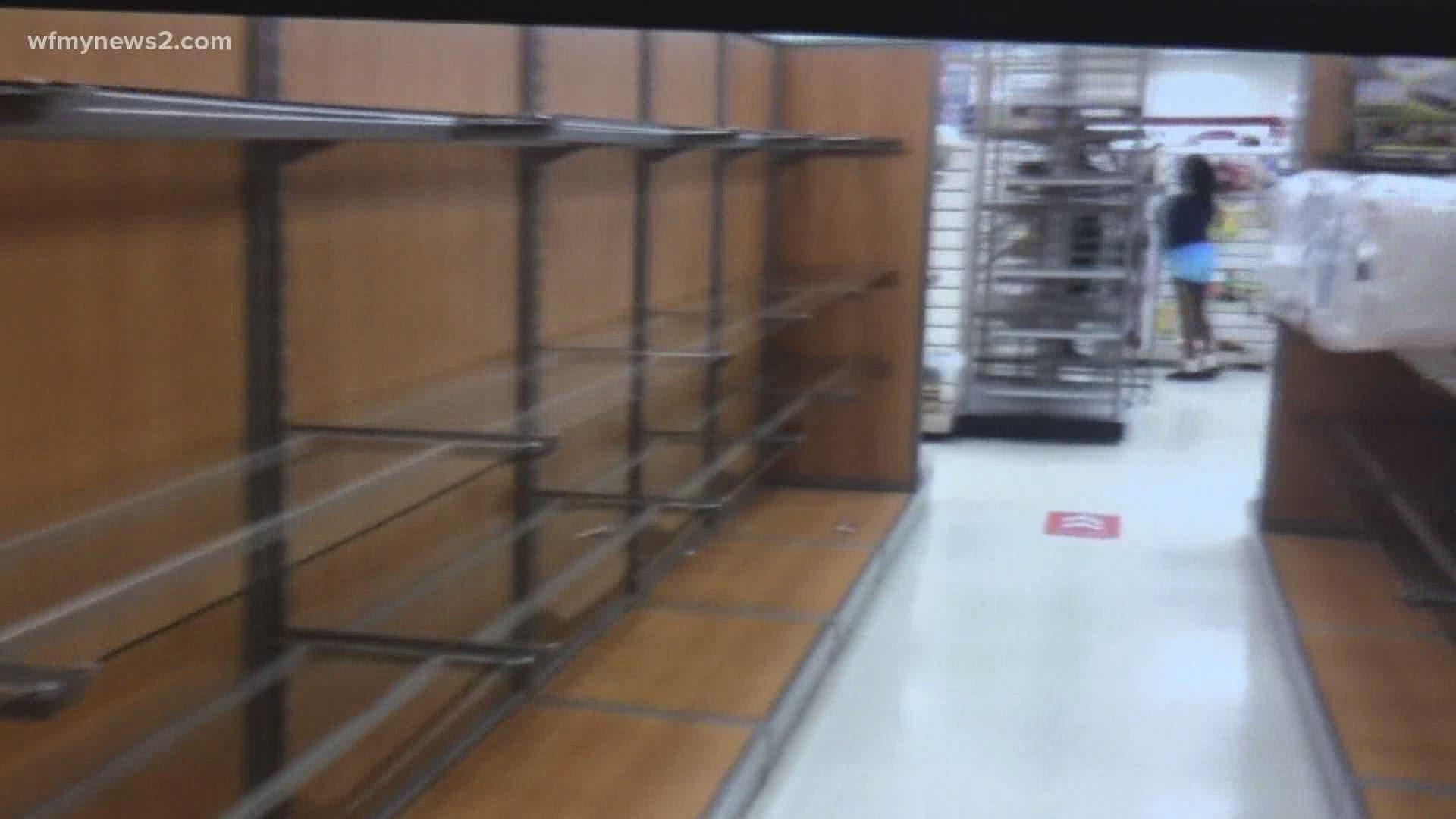 Shopping Centers Low On Inventory As They Reopen During Pandemic Wfmynews2 Com