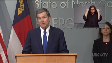 North Carolina Gov. Roy Cooper issues statewide 'stay-at-home' order