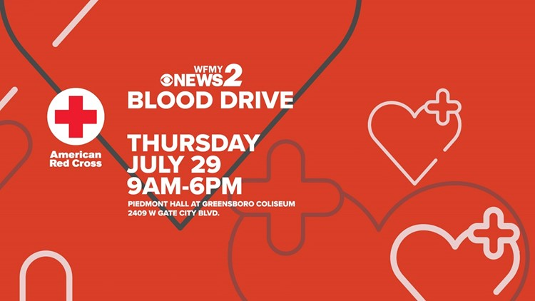 Blood need doesn't take a summer vacation. Donate at the WFMY Summer Blood Drive