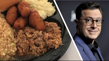 'What Are You Doing?' Stephen Colbert Throws Another Jab at NC Barbecue
