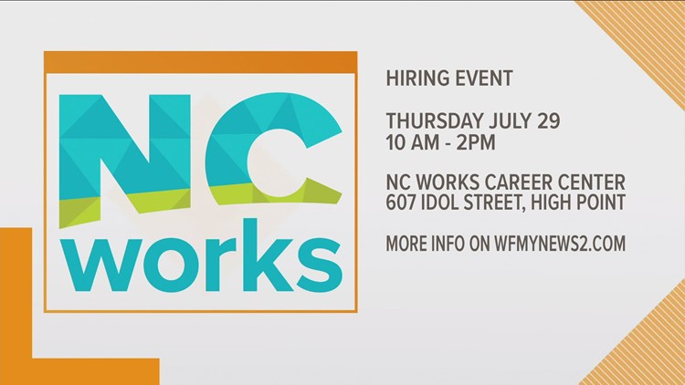NCWorks  Hiring Event July 29