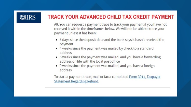Where is your September Advanced Child Tax Credit payment?