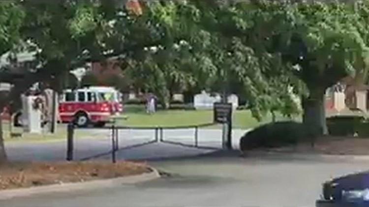 RAW: Truck on fire following crash in Winston-Salem