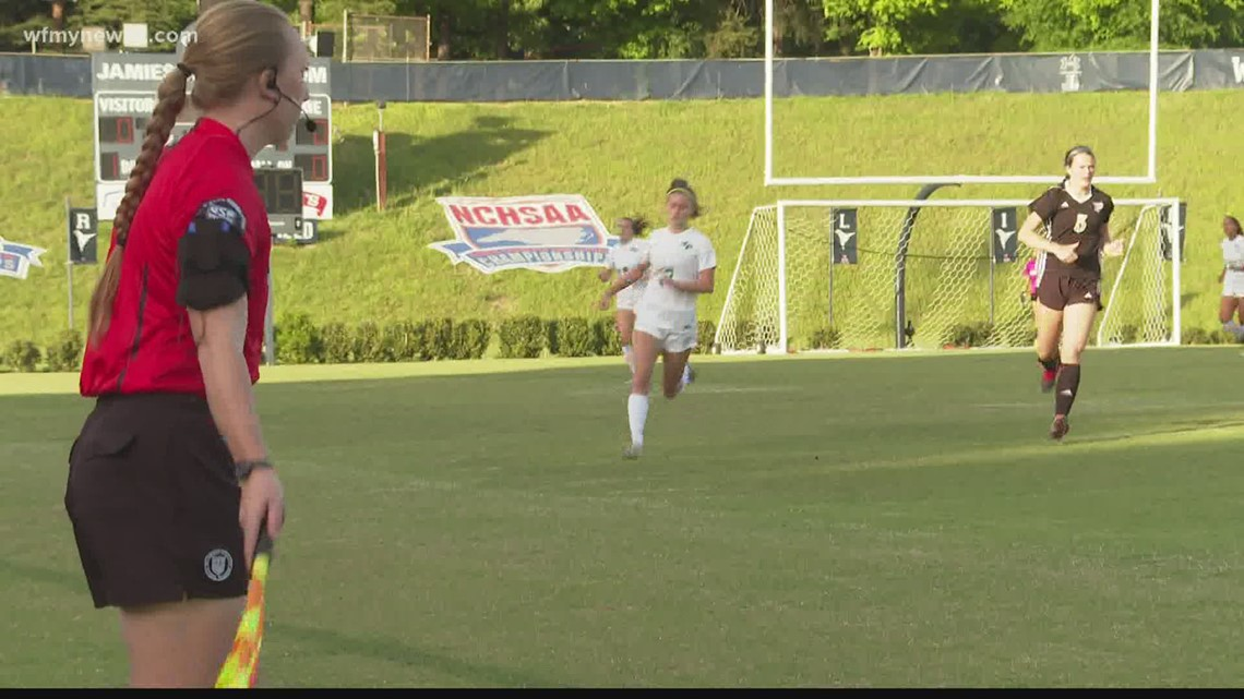 History Made: first all-female referee crew officiates NC state championship game