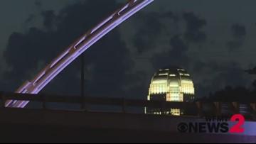 Twin Arches Light Up For Carolina Thunderbirds