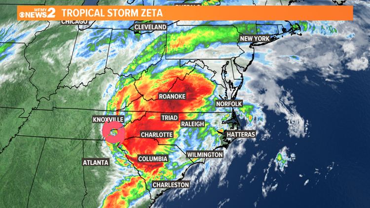 TIMELINE: Zeta to bring high winds, power outages to NC Thursday