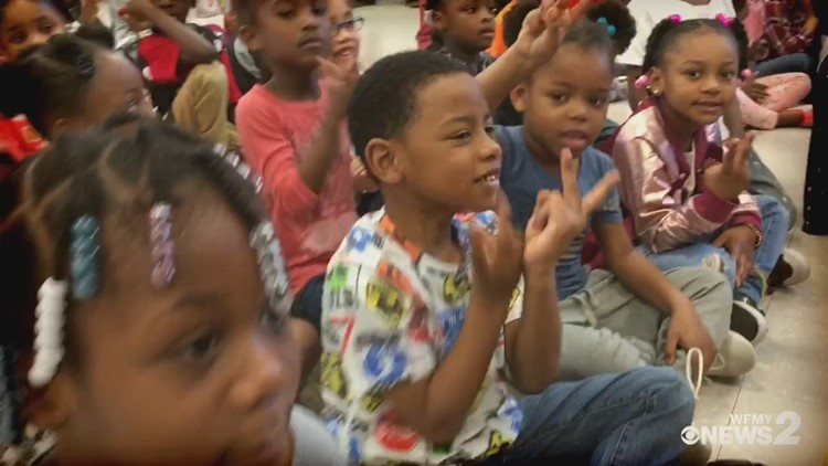 The Read 2 Succeed Train Rolls Into Washington Montessori In Greensboro