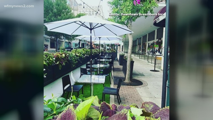 Downtown Greensboro's street dining becomes permanent
