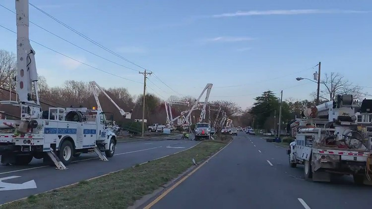 Winston-Salem crash takes out 7 utility poles, power lines