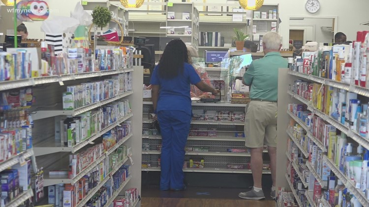 more people stopping by local pharmacy's to get the Covid vaccine