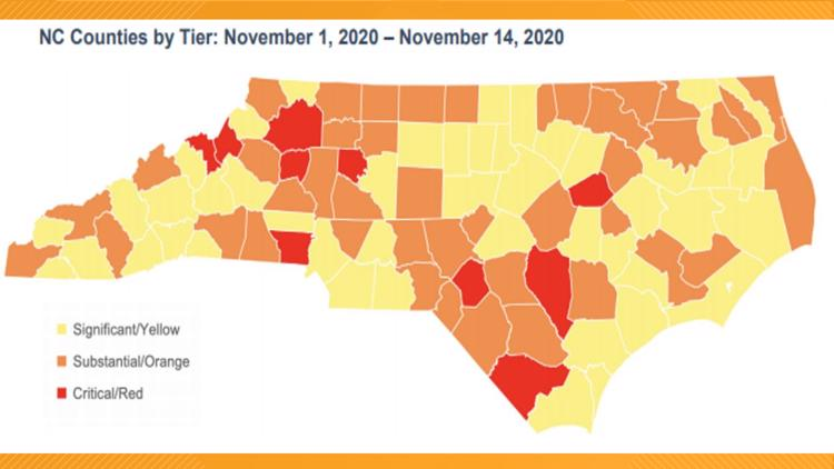 What Color Is Your County And Why It Matters Covid Alert System Wfmynews2 Com