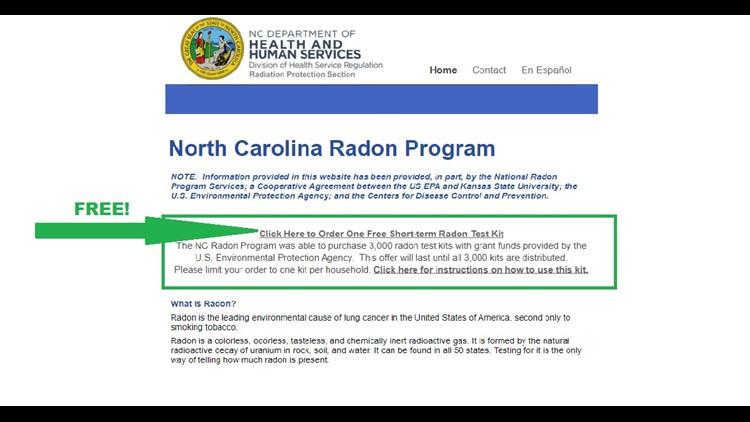 Free Radon Kit