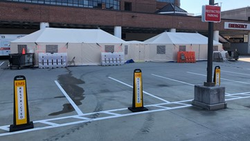 Wake Forest Baptist Medical Center sets up assessment tents outside emergency departments