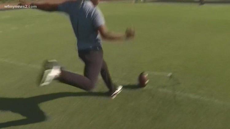 WFMY News 2's Jaelen Gilkey 'kicks off' Friday Football Fever