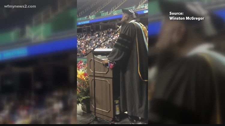A Guilford County principal goes viral for his soulful student send-off