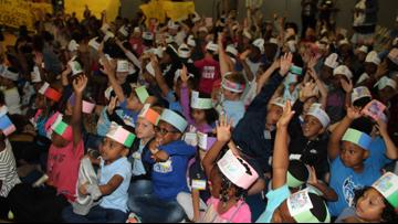 The Read 2 Succeed Train Rolls Stops at Jefferson Elementary in Greensboro