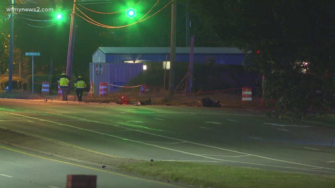 One person dies after truck and motorcycle crash on Wendover Avenue