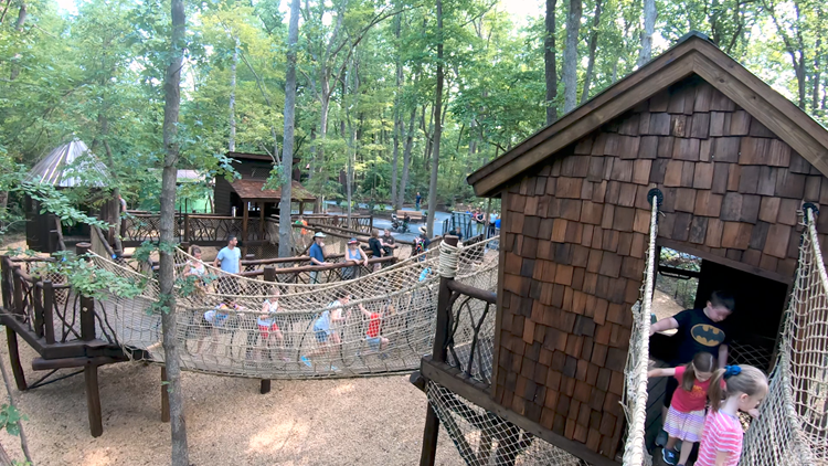 Treehouse Trek is the Newest Adventure at NC Zoo, and as You Can See, Kids Love it!