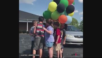 Greensboro Boy Releases Balloons With Money On His Birthdays