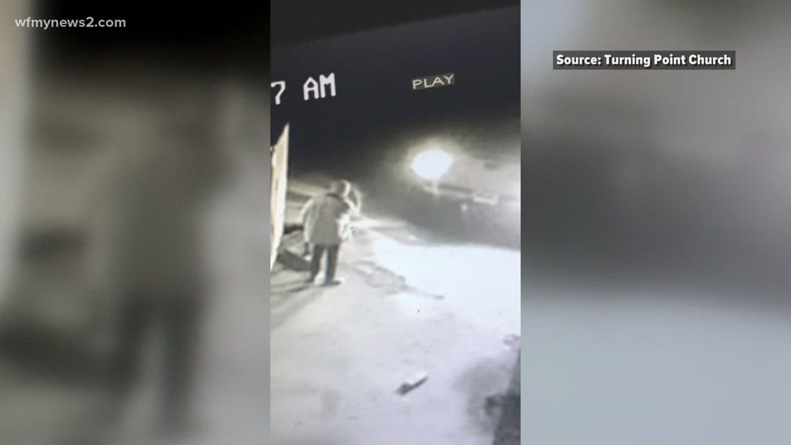 Caught on camera: Thieves steal trailer from church parking lot