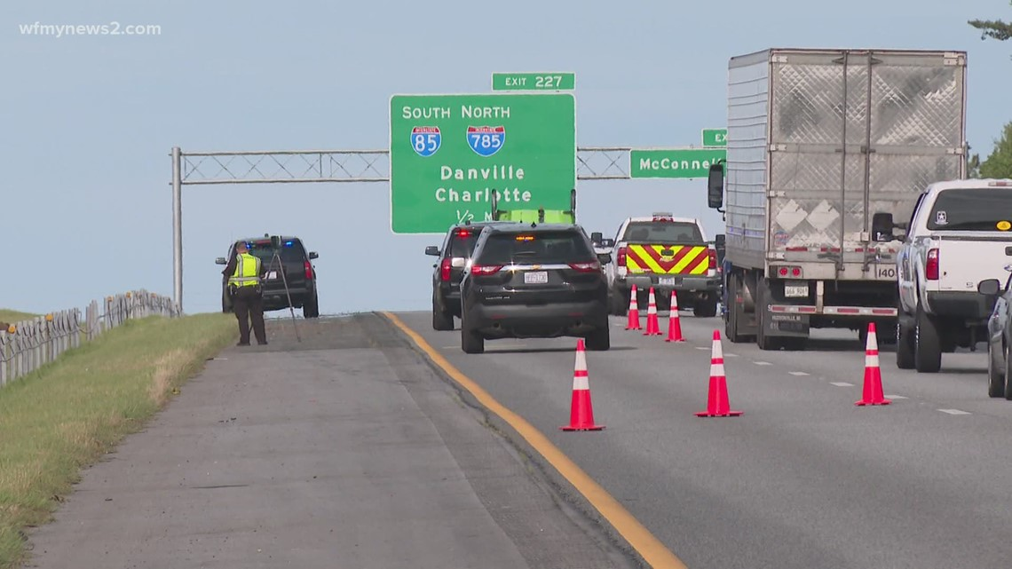 Busy Greensboro highway closes lanes after bad crash