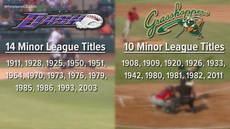 History of the Greensboro Grasshoppers vs. Winston-Salem Dash