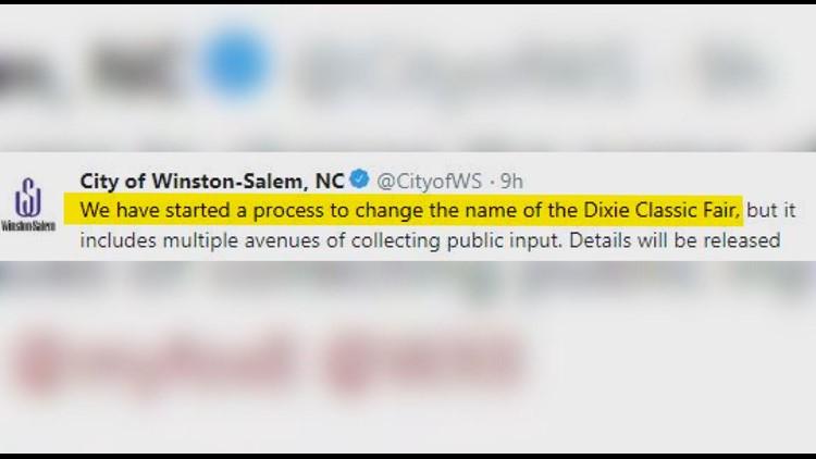 Winston-Salem Tweet