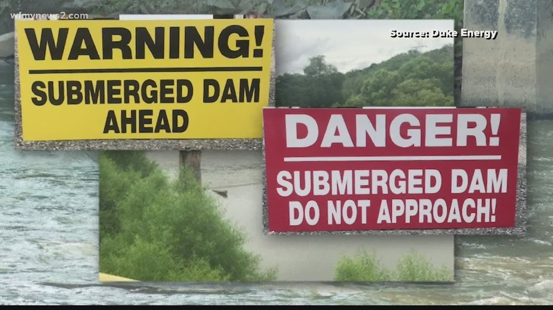 Duke Energy puts up new signs at dam where people died in tubing accident