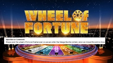 Delicious Figs: Here's the Answer to 'Wheel Of Fortune' Halloween Episode of the Margaritaville Home Giveway