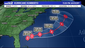 Humberto Becomes 3rd Hurricane Of The Season