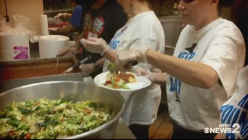 Keep Pounding Day In Triad: Panthers Staff Do Community Service at Greensboro Urban Ministry