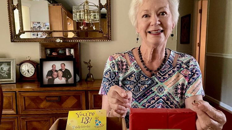 A package for her family goes on a 7-month cross country journey before ending up back home in Thomasville