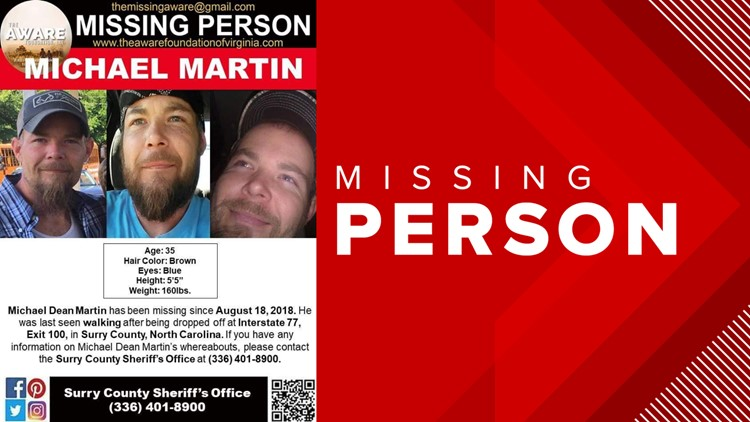 Michael Martin Missing Person Poster