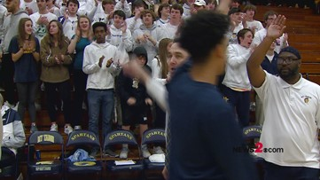 NCHSAA Men's 4th Round Hoops Playoffs:  Smith vs. Mount Tabor