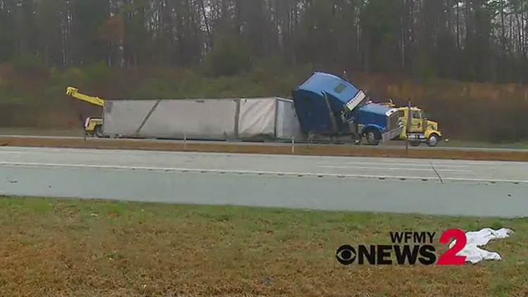All lanes of I-85 south near US 421 have reopened following tractor-trailer crash