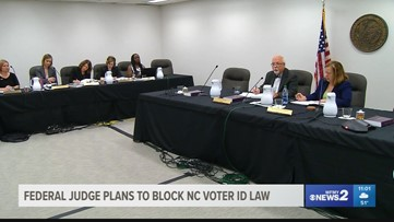 A federal judge wants to block North Carolina's decision to introduce a voter ID law