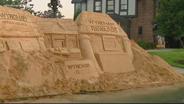 Check Out the 2018 Wyndham Championship Sand Sculpture
