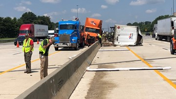 All Lanes of I-40 Back Open; Overturned Tractor-Trailer Cleared From Highway