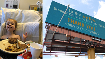 Thank You. Baby D. | Dad Goes Billboard Big to Thank Children's Hospital Staff Who Treated Son