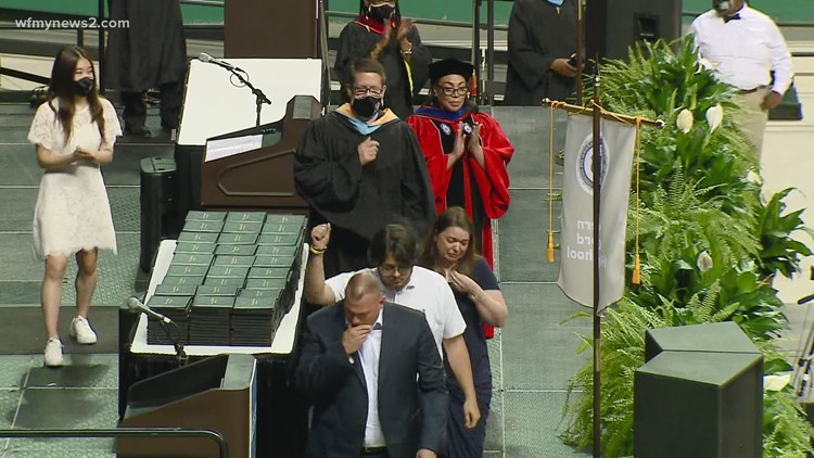 Western Guilford High School family honored at graduation months after daughter's death