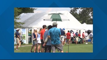 Heat at Wyndham Championship Sends Fans Sprawling to the Shade