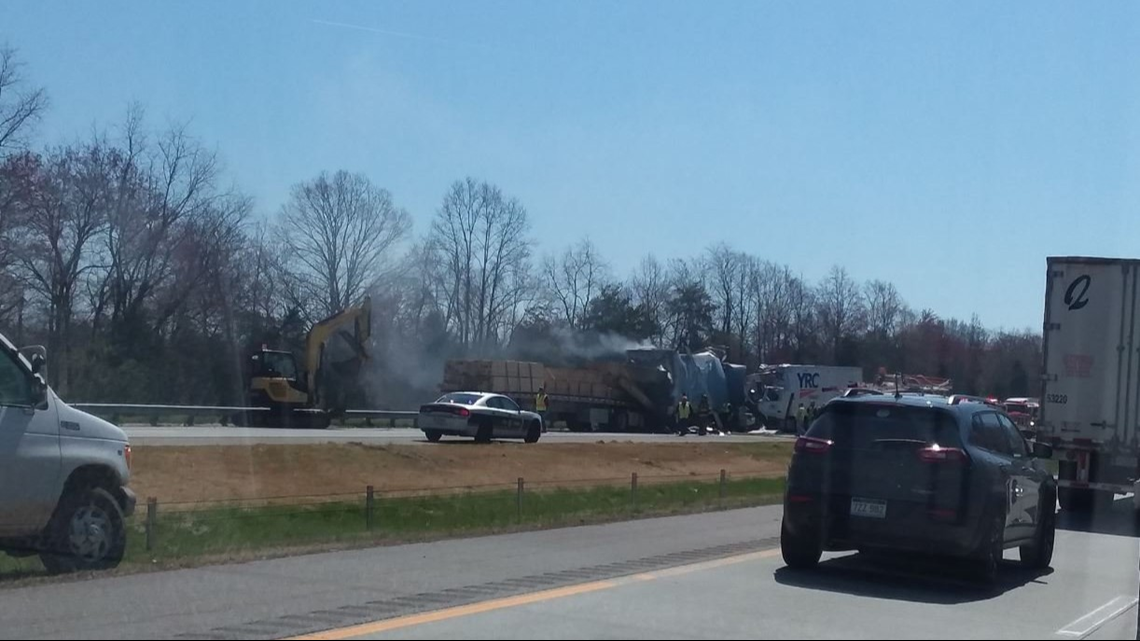 Two Dead After I-77 Fiery Crash Involving Three Tractor-Trailer