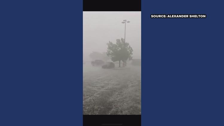 RAW: Hail storm at Costco in Greensboro
